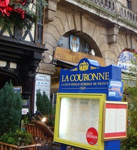 La Couronne Restaurant Sign